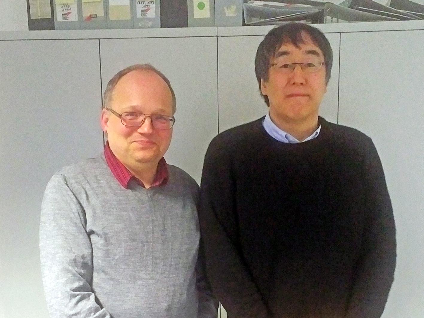 Dr. Ryo Kuboyama und Prof. Dr. Dirk van den Boom